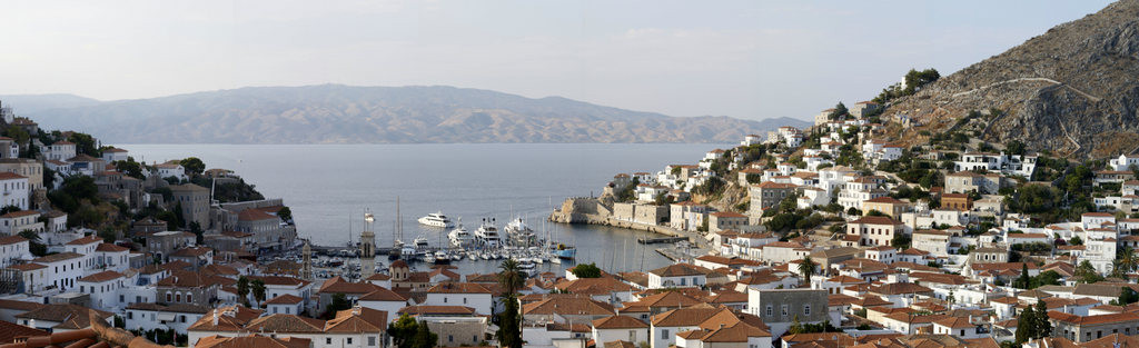 View on Hydra harbour