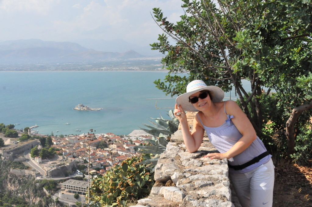 View from Palamidi castle in Nafplio