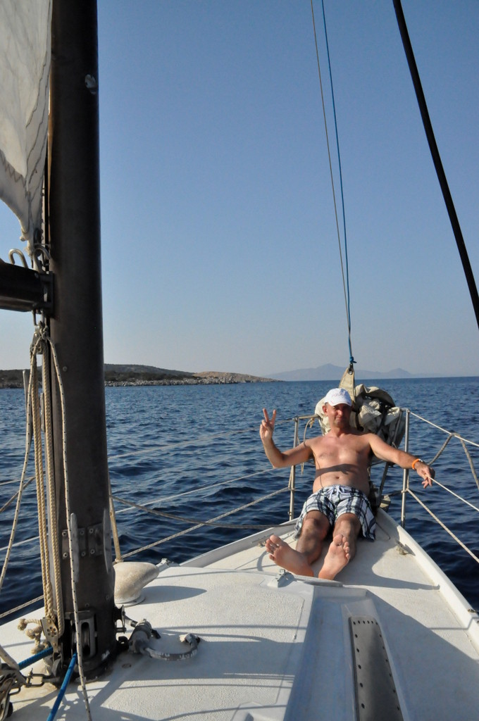 Sailing around Poros island