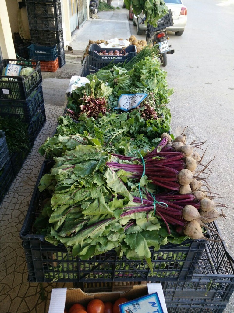 Fresh veggies in the local shops and markets - authentic greek experience!