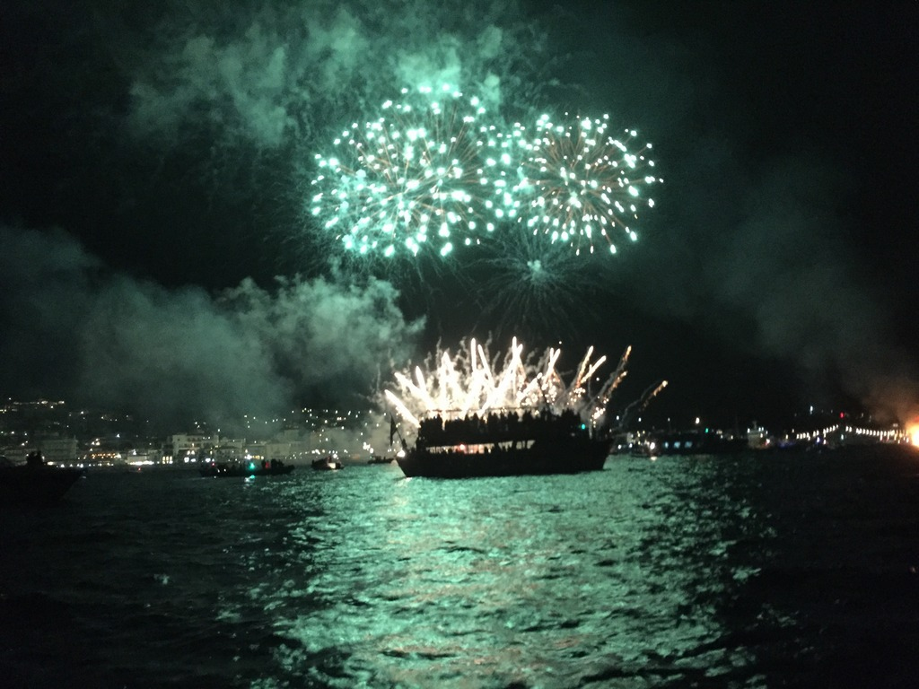 The Armata Spetses fireworks show
