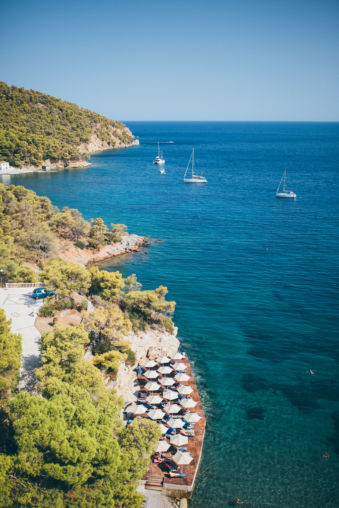 Best beaches on Poros and vicinity - Sirene Blue beach