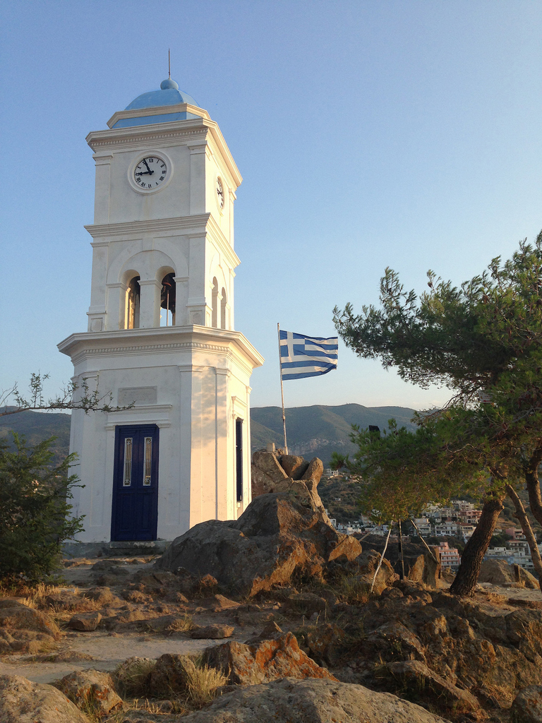 Poros clock tower - perfect spot for sunset watching