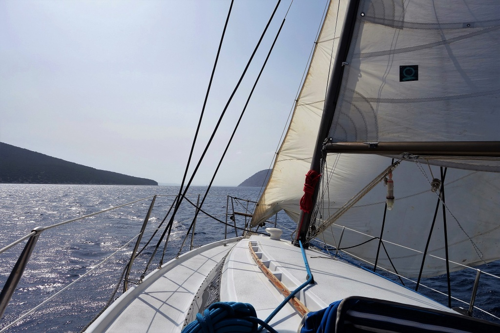 Sailing the Aegean sea