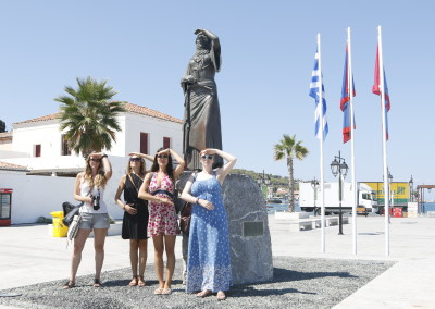 The famous Bouboulina Greek heroine from Spetses