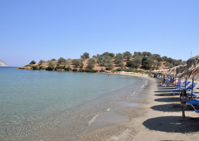 Aliki beach near Live-Bio