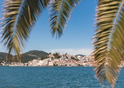 Poros view from Galatas