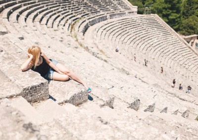 UNESCO Heritage Site the Ancient Epidaurus Theatre
