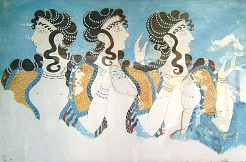 Fresco of women from Knossos Palace, Crete