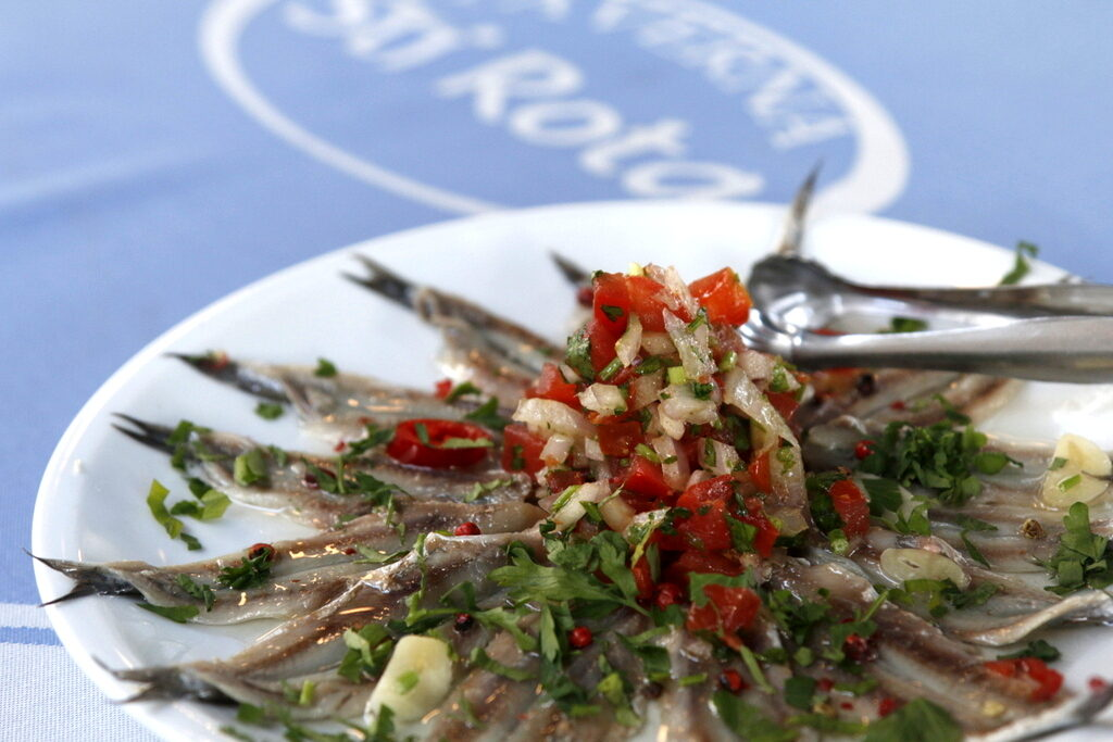 Top 15 dishes to try in Greece: Gavros marinatos (marinated white anchovies)