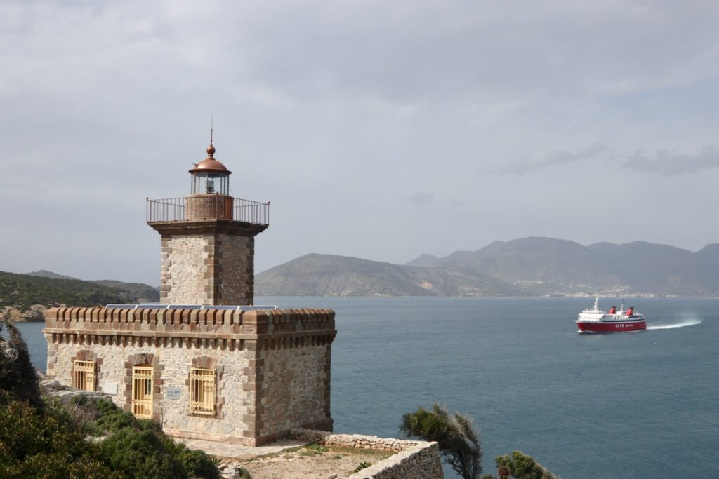 Dana lighthouse on Poros island