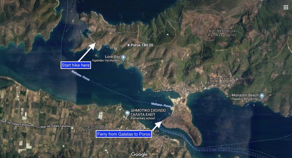 Crossing from Galatas to Poros